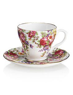 Floral Cup & Saucer Set | M&S