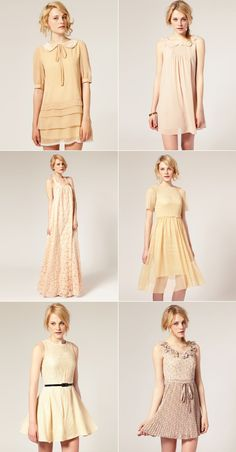 I like this colur range for bridesmaid dresses too....