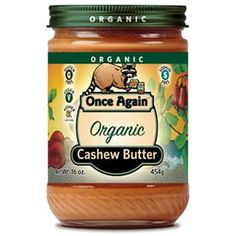 Once Again organic cashew butter