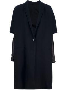 NEIL BARRETT - Leather Sleeve Coat