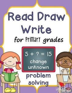This product is intended to provide students in 1st grade and struggling 2nd grade students with addition change unknown  problem solving practice . The product includes:- 1 blank read draw write problem solving template- 10 addition change unknown word problems and answer keys-3 bonus word problems 10 more or 10 less