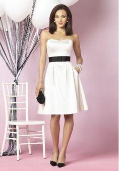 Satin Strapless Sweetheart A-Line Short Bridesmaid Dress - Bridesmaid - WHITEAZALEA.com