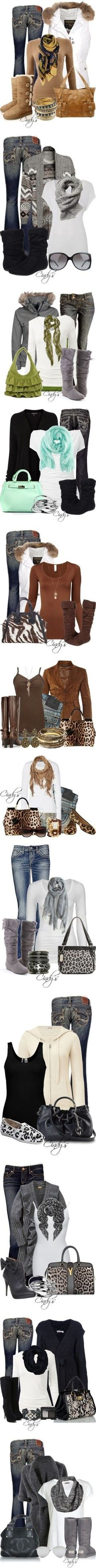 Fall outfits! I love scarfs and sweaters!!