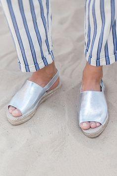 09e69a522675 Kinder Silver Flat Espadrille Sandals By Carvela