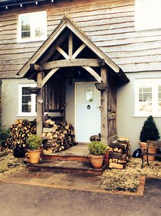 Handcrafted and wooden pegged entrance porch...kitclifford.co.uk & Oak Porch Doorway Wooden porch CANOPY Entrance Self build kit ... Pezcame.Com