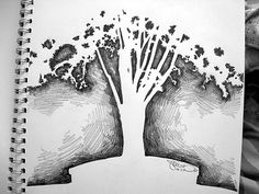 negative space tree by loliminx, via Flickr. Don't know if gr. 4 can do this, but it's a cool idea....