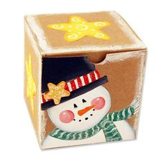 Painted Snowman Gift Box, large