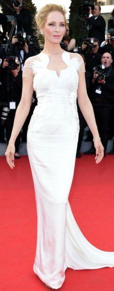 Uma Thurman in Marchesa Cannes Film Festival 2014, Uma Thurman, Red Carpet Gowns, Celebrity Red Carpet, Marchesa, Formal Dresses, Wedding Dresses, Beautiful Dresses, Celebrities