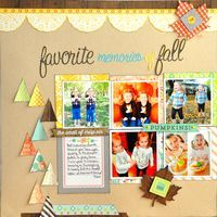 Layout by Designer Jill Cornell using Webster's Pages' brand new collection for Fall, Family Traditions by Adrienne Looman!