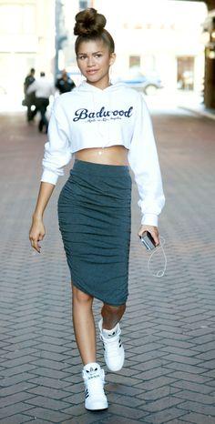 Zendaya seen shopping in downtown Los Angeles, California. Getty Images -Cosmopolitan.com