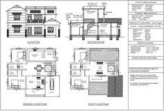 2bhk House Plan, Free House Plans, Simple House Plans, Residential Building Plan, Building Design Plan, Building Plans, Kerala House Design, Small House Design, Indian House Plans