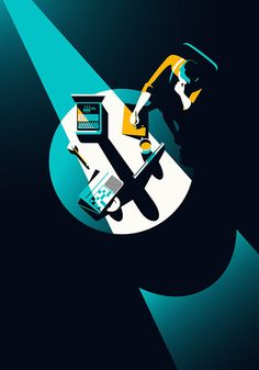 The imitation game, movie poster by the illustrator Malika Favre. Illustration Design Graphique, Art Graphique, Graphic Illustration, Graphic Art, Shadow Illustration, Magazine Illustration, Vintage Graphic, Retro Vintage, Design Web