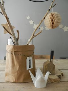 #kerst #paperbag #label #papercomb #sukha #huisengrietje #bird @(T)Huis&Grietje Flower Decorations, Christmas Decorations, White Christmas, Xmas, Call Art, Ideas Geniales, Party Time, Kids Room, Sweet Home