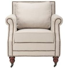 pretty good looking nailhead trim chair $399