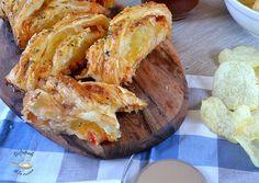 Deliciosa receta de trenza de pavo, queso y tomate del blog Disfrutando de la Cocina