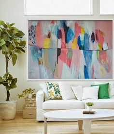 Love! Beautiful original painting from Lola Donoghue | Gallop Lifestyle #affordableart #artwork #interiordecor