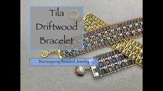 Tila Driftwood Bracelet - YouTube Beaded Bracelets Tutorial, Beaded Jewelry Designs, Beading Tutorials, Bracelet Patterns, Earrings Handmade, Jewelry Making, Youtube, Mosaic Mirrors, Mosaic Art