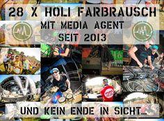 Media Agent hat eine Reihe von Veranstaltungen, die regelmäßig und dauerhaft ausgestattet werden. Dazu gehört die Veranstaltung Holi Farbrausch. Es ist der einzige Ableger der Originalveranstaltung, der es dauerhaft geschafft hat viele Leute zu mobilisieren.
