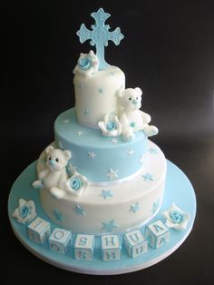 Idea for baptism cake for Italian baptism . Idea for baptism cake for Italian baptism …. Idea for Christening cake for Italio's Christening…. 225 Source by walkercy Baby Boy Cakes, Cakes For Boys, Baby Shower Cakes, Pretty Cakes, Beautiful Cakes, Fondant Cakes, Cupcake Cakes, Christening Cake Boy, Baptism Cakes