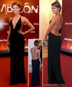 Sophie Carlotte foi de vestida de mulher fatal num vestido costas nuas da Priting - Os looks na festa de lançamento de BABILÔNIA   http://modaefeminices.com.br/2015/03/08/os-looks-na-festa-de-lancamento-de-babilonia/