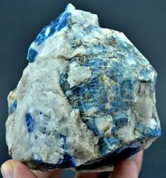 475 Grams Top Quality Extremely Rare Blue Hauyne Specimen From AFG