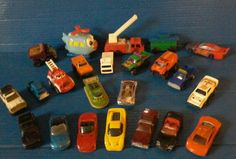 Loose Cars Trucks Helicopter Toy Vehicles LOT OF 23 Fire Engine Train Caboose