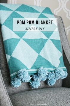Cozy Up with a Pom Pom Blanket / diy at jones design company