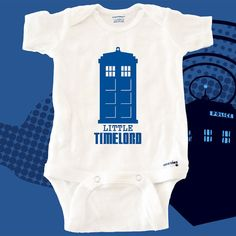 Doctor Who Little Timelord Handmade Onesie BABY by videogamedecals, $17.99