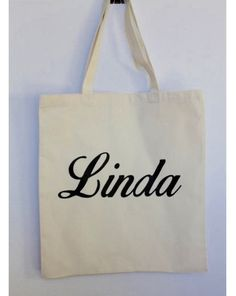 CUSTOM NAME Tote bag 100% Cotton Canvas by MinniesDream on Etsy
