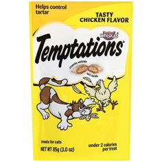 TEMPTATIONS Classic Treats for Cats Tasty Chicken Flavor Ounces by Temptations * Be sure to check out this awesome product. (This is an affiliate link and I receive a commission for the sales) Chicken Cat, Cat Training Pads, Cat Shedding, Cat Fleas, Mega Pack, Chicken Flavors, Cat Supplies, Cat Health, Health Tips