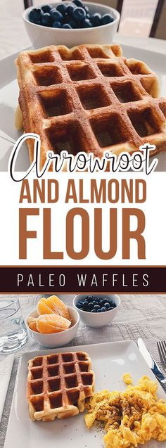 Arrowroot and Almond Flour Paleo Waffles! Régime Paléo Arrowroot and Almond Flour Paleo Waffles Waffle Recipes, Paleo Recipes, Whole Food Recipes, Flour Recipes, Paleo Bread, Paleo Diet, Paleo Flour, Arrowroot Recipes, Arrowroot Flour