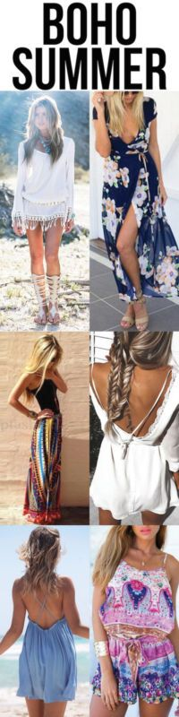 Boho Summer Clothes - dress, jewelry, and fashion. I love this summer style!