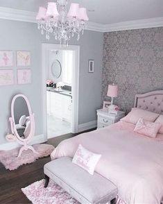 Pink Bedroom Design, Pink Bedroom For Girls, Pink Bedroom Decor, Girl Bedroom Designs, Shabby Chic Bedrooms, Room Ideas Bedroom, Bedroom Vintage, Bed Room, Girl Rooms