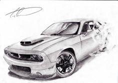 Dodge Challenger burnout by CiocolataC on deviantART