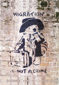 Banksy Migration is Not a Crime Mural