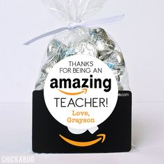 Thanks Being An AMAZING Teacher! Teacher Appreciation Stickers Paper goods and DIY printables for parties and holidays Appreciation Message, Teacher Appreciation Week, Employee Appreciation, Candy Gifts, Gag Gifts, Craft Gifts, Gifts Sets, Hostess Gifts, Teacher Christmas Gifts