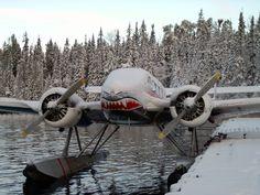 Icy float plane