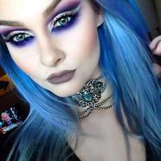 """""""Completely in love with this choker from I'll post eye details later On my lips I'm wearing 1000 Years Lipliner and…"""" Gothic Makeup, Dark Makeup, Fantasy Makeup, Witch Makeup, Halloween Face Makeup, Arley Queen, Beauty Makeup, Eye Makeup, Makeup Art"""