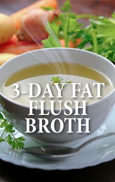 Dr. Oz shared the details of the 3-day fat flush that can help you lose weight and eat healthier in just three days. http://www.recapo.com/dr-oz/dr-oz-diet/dr-oz-3-day-fat-flush-vegetable-broth-breakfast-shake-recipes/