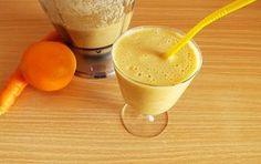 Acest suc este nu doar foarte bun la gust, ci și foarte hrănitor și bogat în substanțe nutritive. Conține beta-caroten, Vitamina C, și cantități importante de calciu și fier.    Acesta este un suc excelent pentru reîncărcare … Tasty, Yummy Food, Nutribullet, Healthy Drinks, Turmeric, Natural Remedies, Food And Drink, Pudding, Cooking