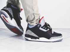 Nike Air Jordan 3 Retro Black Cement (by jonomfg)