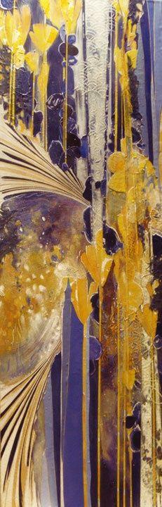Acrylic Painting on Wood Panel - Yellow
