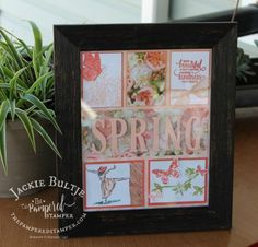 This spring sampler showcases our pretty new stamp called Butterfly Wishes as well as Beautiful You and Enjoy LIfe. Trip To Maui, New Catalogue, Large Letters, Spring Crafts, Holiday Crafts, Soft Colors, Pattern Paper, Shadow Box, Some Fun