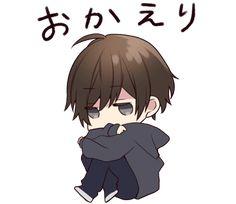 It is a cute sticker of Menhera-kun. Dibujos Anime Chibi, Cute Anime Chibi, Kawaii Chibi, Sad Anime, Kawaii Anime, Anime Art, Cool Anime Guys, Cute Anime Boy, Chibi Fairy Tail