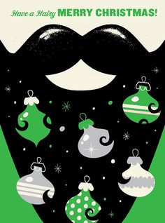 Christmas / XMS-54 - Hairy Merry / Holiday Cards from Lure Paper Goods $4.25