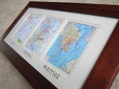 Want one of these but the maps would be all Coronado.... Maybe I'll make one with a picture of the place with a Coronado map as the matting!!