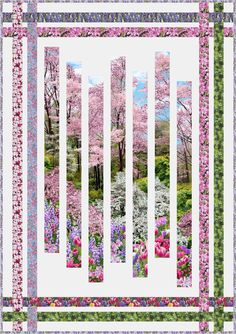 FREE PATTERN - Fracture by Pam See | Botanic Garden- Timeless Treasures