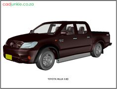 3D Vehicle: Toyota Hilux 3.0D CAD Format:      AutoCAD 2013  Block Type:         3D Mesh  Units:                    mm Autocad, Cad Models, 3d Mesh, Cad Blocks, Toyota Hilux, The Unit, Type, Vehicles, Car