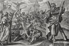 The Apostles in the Phillip Medhurst Collection 031 Andrew's martyrdom Acts cap 1 v 13 De Vos on Flickr. A print from the Phillip Medhurst Collection (published by Revd. Philip De Vere at St.George's Court, Kidderminster, England)
