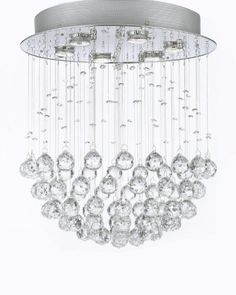 "Modern Chandelier ""Rain Drop"" Chandeliers Lighting with Crystal Balls! W18"" H21"" The Gallery http://www.amazon.com/dp/B00CLTFD82/ref=cm_sw_r_pi_dp_hXWlub00719R1"
